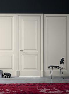 Interior Door Styles, Door Design Interior, Interior Doors, How To Draw Stairs, Wainscoting Bedroom, Wrought Iron Stairs, Partition Design, House Doors, Wood Paneling