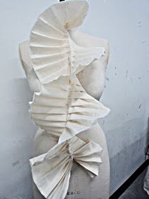 Growth of Creativity: Draping Fabric On The Stand                                                                                                                                                                                 More