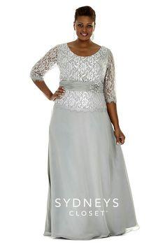 Sydneys Closet SC4020 Plus Size Mother of the Bride Gown