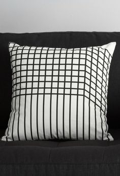 Simple. Unfussy. In black and white. If only life were more like the Vico cushions. But, having these propped on your sofa is a great place to start.
