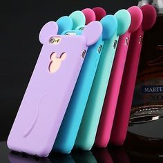 3D Cute Cartoon Soft Silicone Phone Case Cover For Apple iPhone 4S 5S 6 Plus #Iphone4s #ParentingCartoon #iphone5s