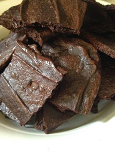 Brownie brittle crisps from a box of brownie mix. Variations with toppings and dark chocolate!