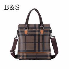 2016 Men's Fashion Panelled Plaid Bag High Quality Leather Men Messenger Shoulder Bags Famous Brand Design Male Handbag Kabelky