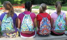 Sew a Cinched Drawstring Backpack - PDF Pattern