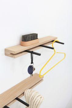 Garderobe und Ablage aus Holz // wooden wardrobe by komat berlin via dawanda.com