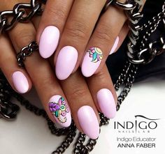 Olala Gel Polish from Natalia Siwiec by Indigo Educator Anna Faber, Gliwice #indigo #nails #nail #pink #flower #natalia #siwiec #summer #pastel