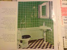 Grönt badrum Flooring, Bathroom, Retro, Interior, Bath, Washroom, Indoor, Bath Room, Neo Traditional