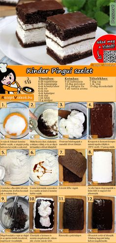 A lot of people loves this dessert, both kids and adults will enjoy it! Try the Kinder Pingui cubes! You can easily find the Kinder Pingui Cubes recipe by scanning the QR code in the top right corner! Dessert Simple, Cube Recipe, Best Pancake Recipe, Tasty, Yummy Food, Baking Ingredients, Relleno, Easy Desserts, Cubes