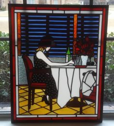 Stained Glass by Rosemary Doran - Arts & Crafts Ideas Delphi Glass, Artist Gallery, Stencil Painting, Stained Glass Windows, Glass Panels, My House, Shed, Arts And Crafts, Art Deco