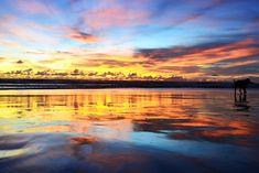 Sonnenuntergang Kuta Beach - eine Woche Bali mit BackpackerPack Trips