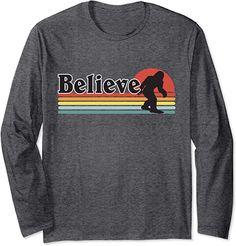 Amazon.com: Believe Sasquatch Outdoors Tee Retro Nature Hiking Bigfoot Long Sleeve T-Shirt : Clothing, Shoes & Jewelry Bigfoot, Edgy Outfits, Hiking, Outdoors, Amazon, Retro, Tees, Long Sleeve, Clothing