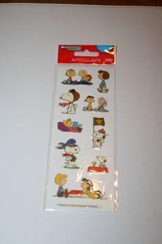 Planche de Stickers SNOOPY et ses amis pour Scrapbooking : Stickers, autocollants par boutique-creative-by-c-dona