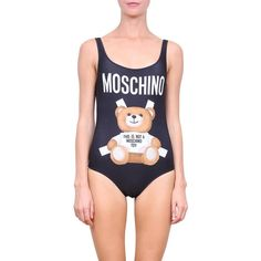 Moschino One piece swimsuit ($234) ❤ liked on Polyvore featuring swimwear, one-piece swimsuits, nero, print swimwear, 1 piece bathing suits, summer bathing suits, print swimsuit and moschino bathing suit