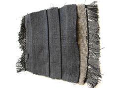 John Brooks Debris swatch #1 hand-woven cotton, linen & rayon double weave, on two back-beams 2010