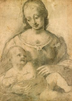 Giampietrino | active 1495-1540 | Virgin and Child. Verso: Study for Head of Child | The Morgan Library & Museum