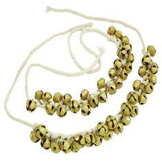 Banithani Antique Brass Kathak Ghungroo klassischer Tanz paar Fußketten Armband Geschenk für Sie