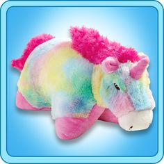 They have come out with a Rainbow Unicorn Pillow Pet which is absolutely adorable. The rainbow colors are bright and very cheery. See The Rainbow. Birthday Presents For Teens, Teen Presents, Birthday Parties, Unicorn Pillow Pet, Pillow Pets, Plush Pillow, Unicorn Stuffed Animal, Animal Jam, Gifted Kids