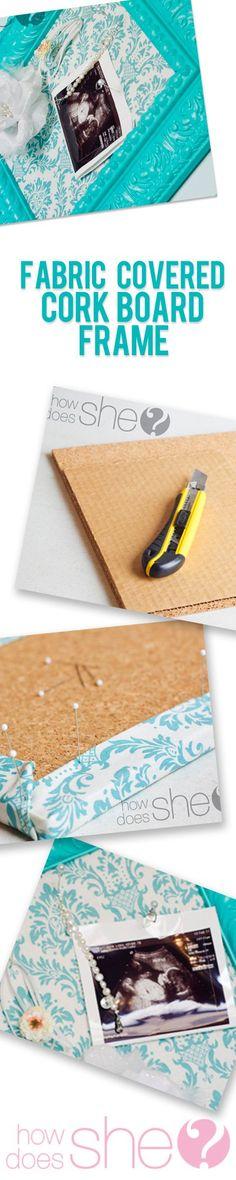 Fabric Covered Cork Board Frame