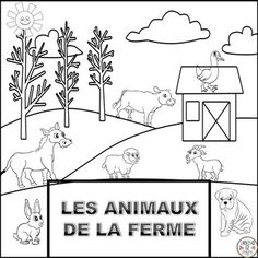 This French product is about sparking an interest for farm animals in young children. Your students will be able to trace  the French word and color these thirteen farm animals in French ! Animals are depicted in their natural habitat. Vocabulary words depicted in this file are:  le cheval, le lapin, les canards, les poules, les poussins, les vaches, les chvres, le cochon le chien, le chat, les moutons, la dinde et ne.This file is also included in here:LES ANIMAUX BUNDLEI hope this product…