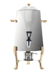 Update International CU-30GD Stainless Steel Coffee Urn with Gold Accent, 3-Gallon - http://teacoffeestore.com/update-international-cu-30gd-stainless-steel-coffee-urn-with-gold-accent-3-gallon/