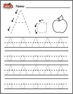 Free Trace Alphabet Letters Printable Worksheets for Preschool & Kindergarten | Alphabet Action