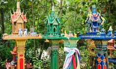 Spirit Houses - Buddhist: According to the belief, construction of houses and other buildings may displace the spirits inhabiting the land.
