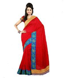 Maker Creation Bollywood Indian Multi Coloured Bhagalpuri Silk Saree For Ethnic Wear, http://www.snapdeal.com/product/maker-creation-bollywood-indian-multi/2095675870