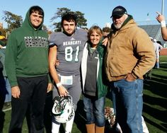 Family minus Kenzie Kaye after a game.