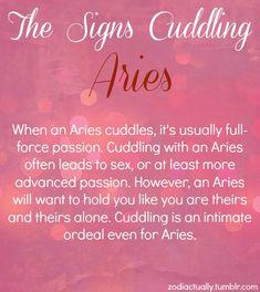 Aries cuddling