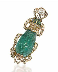An emerald, ruby and diamond 'Scarabée' brooch, by Herz-Belperron. Photo Christie's Image Ltd 2013