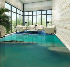48.99$  Buy now - http://alioc8.worldwells.pw/go.php?t=32689736241 - Customize 3d floor water 3d floor kitchen river falls bathroom waterproof thickened self-adhesive plastic flooring rolls 48.99$