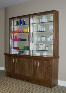 Storage and display unit Hotel Reception Desk, Office Storage, Joinery, Office Furniture, Bathroom Medicine Cabinet, Lockers, Commercial, Display, Home