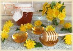 Med z pampelišek Pickles, Table Decorations, Canning, Med, Desserts, Lemon, Syrup, Marmalade, Tailgate Desserts