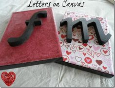 Letters on Canvas Valentine's Day Craft DIY