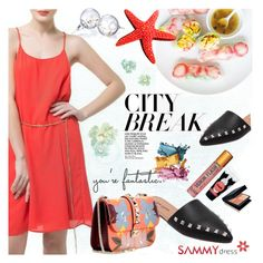 """""""city break"""" by ansev ❤ liked on Polyvore featuring Valentino and sammydress"""
