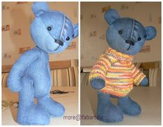 DIY Cute Jean Teddy Bear Free Sew Pattern & Template DIY Cute Jean Teddy Bear Free Sew Pattern & Template<br> Kids may love this teddy bear that you make for own or as gift by adding their name on it, and it's easy to make. Babies grow up so fast and… Teddy Bear Patterns Free, Teddy Bear Sewing Pattern, Sew Pattern, Sewing Patterns Free, Free Sewing, Doll Patterns, Teddy Bear Template, Pattern Ideas, Pattern Design