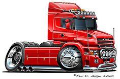 Cars Toons, Airbrush Designs, Truck Art, Car Illustration, Funny Cars, Car Sketch, Car Humor, Buses, Art Cars