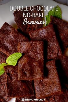 Double Chocolate No Bake Brownies with Shakeology! // easy // vegan // nondairy // vegan recipes // healthy // breakfast // chocolate // cafe latte // shakeology // healthy food // fitspiration // fitness // 21 Day Fix // nutrition // beachbody // fitspo // healthy treats // eat clean // recipe // protein // healthy recipe