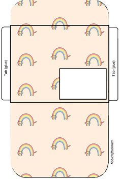 printable envelope for rainbow party Diy Envelope, Envelope Design, Envelope Templates, Paper Toys, Paper Crafts, Fancy Envelopes, Hand Drawing Reference, Papel Scrapbook, Bullet Journal Ideas Pages