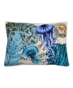 Look what I found on #zulily! French-Inspired Coastal Jellyfish Throw Pillow by THRO #zulilyfinds