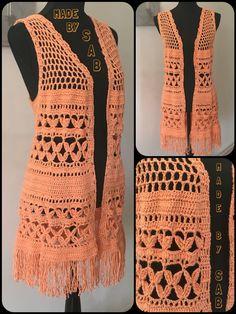 Voorjaarsgilet - patroon: Drops Garnstudio.nl (aangepast naar eigen idee) - maat XL - #crochet