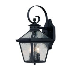 Acclaim Lighting Bay Street Collection 2-Light Matte Black Outdoor Wall-Mount Fixture