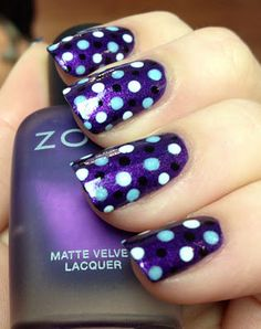 Dots in a Dash! Polka Dot Art featuring Zoya Nail Polish in Savita