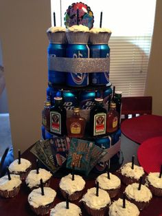"""Made this """"cake"""" for my boyfriend's 24th. He loved it!!! So easy and fun to make!"""