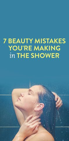 beauty tips for the shower