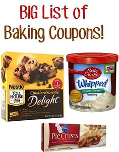 BIG List of Baking Coupons!