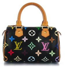 LOUIS VUITTON Multicolor Mini Sac HL Speedy Black ❤ liked on Polyvore  featuring bags d673d8d5e29bf