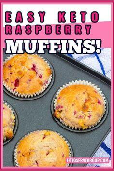 Lemon Raspberry Muffins, Raspberry Recipes, Lemon Muffins, Low Carb Drinks, Low Carb Desserts, Low Carb Recipes, Primal Recipes, Diabetic Recipes, Almond Flour Desserts