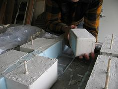 making concrete planters