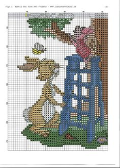 trendy embroidery patterns cross stitch winnie the pooh Disney Cross Stitch Patterns, Cross Stitch Charts, Cross Stitch Designs, Cross Stitch Fairy, Cross Stitch For Kids, Cross Stitching, Cross Stitch Embroidery, Embroidery Patterns, Disney Stitch